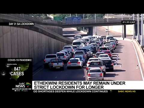 eThekwini residents may remain under lockdown regulations for longer