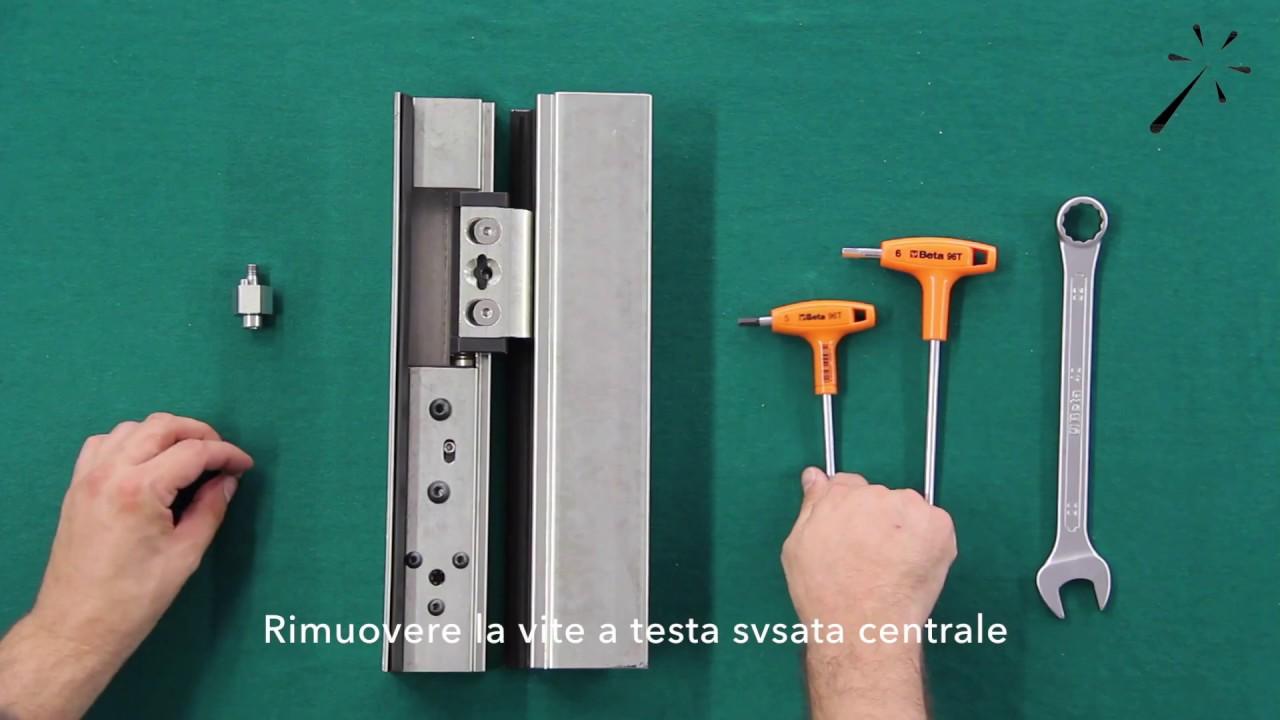 Ita porta metallo cerniera scomparsa t43 assemblaggio e regolazione youtube - Cerniere per finestre ...