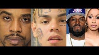 6ix9ine disloyal and Shotti Messed Up the Money getting them all arrested? Funk Flex Trolls Cardi B