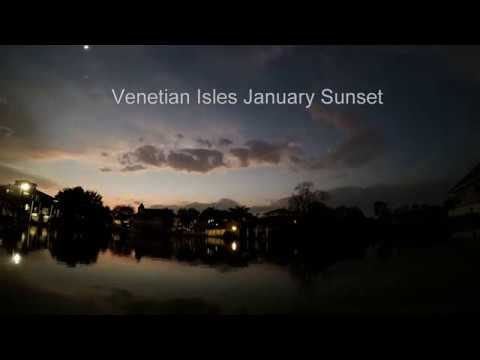GoPro Hero 5 - Venetian Isles NOLA Sunset Time Lapse (Seven Seconds)