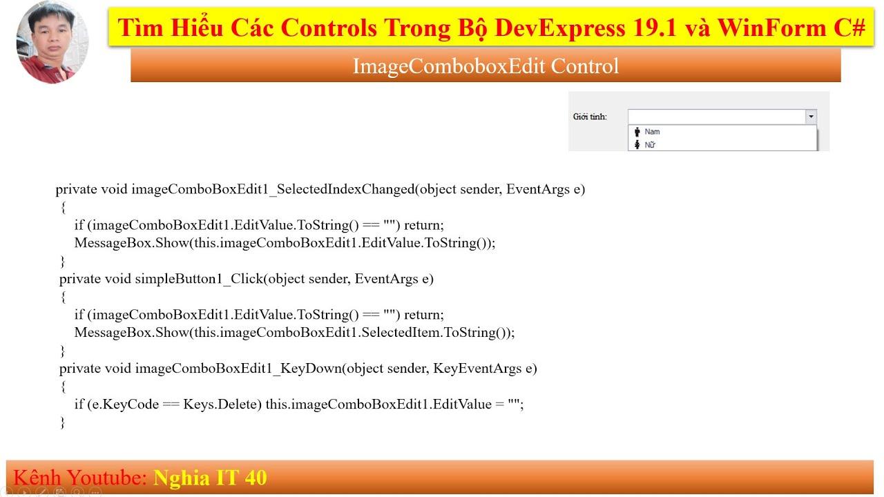 [Devexpress 19.1 Tutorial] Hướng Dẫn Sử Dụng Control ImageCombobox   Lập Trình Visual Studio 2019