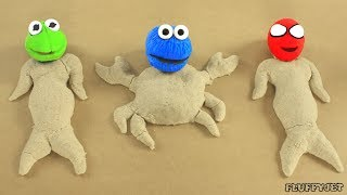 CHILDREN'S SANDBOX Stop Motion Baby Playtime, Toys and Pretend Play Family Fun Video for Kids
