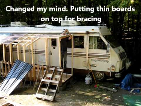 Finishing The Passive Solar RV Heating Porch