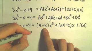 Partial Fraction Decomposition - Example 6