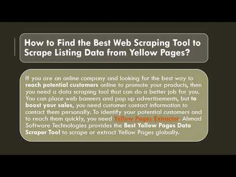 How Do I Gather Information From Yellow Pages