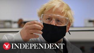 Boris Johnson defends introduction of Covid-19 tier system