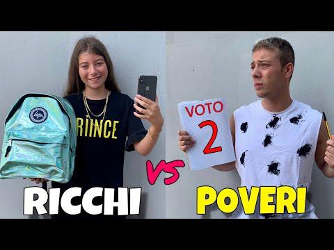 RICCHI VS POVERI - PRIMO GIORNO DI SCUOLA