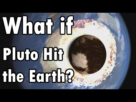 What if Pluto Crashed into the Earth?