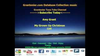 Amy Grant - My Grown Up Christmas List