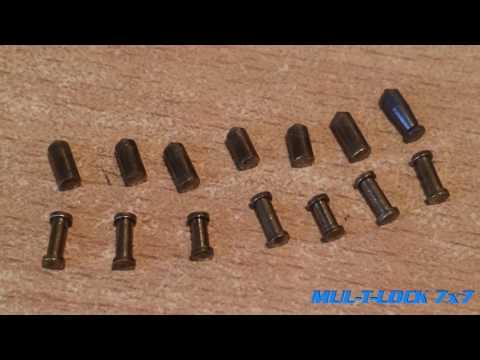 Взлом отмычками Mul-T-Lock 7x7  Mul-t-lock 7x7 вскрытие отмычками.