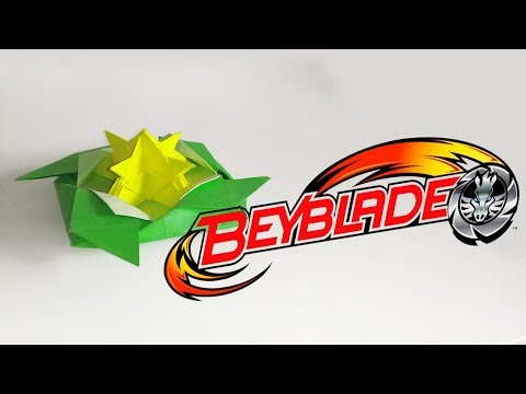 How to make paper Beyblade burst//Origami//Бейблейд из бумаги