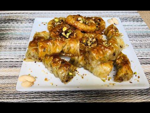 baklava-turc-facile-pistache-et-noix-/filo/-بقلاوة-تركية-بعجينة-الفيلو-سهلة-بطريقتين