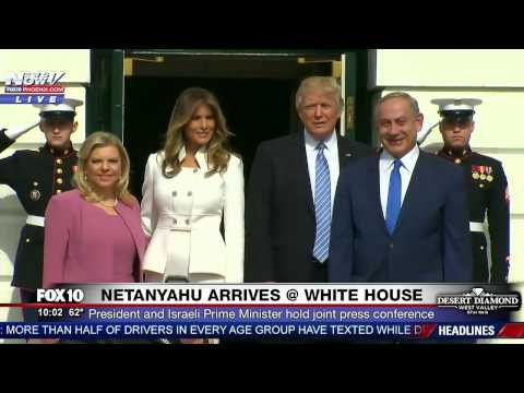 WATCH: Donald and Melania Trump Welcome Benjamin Netanyahu and Wife to White House (FNN)