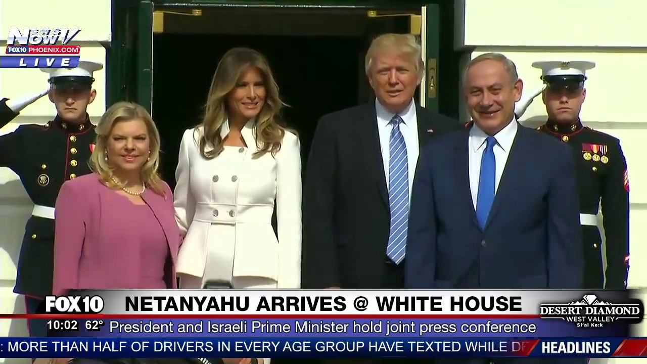 Image result for photos of benjamin netanyahu and President trump