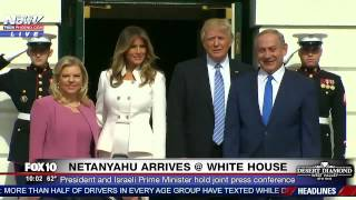 getlinkyoutube.com-WATCH: Donald and Melania Trump Welcome Benjamin Netanyahu and Wife to White House (FNN)