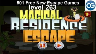 [Walkthrough] 501 Free New Escape Games level 263 - Magical residence escape - Complete Game