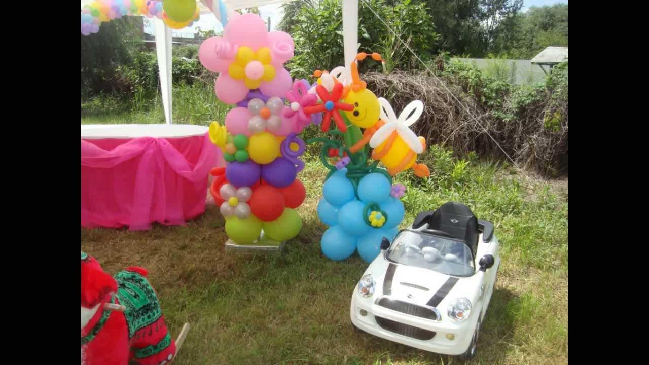 Украшение воздушными шарами день рождения своими руками фото 358