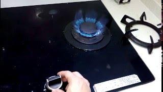 [開箱]  林內Rinnai 玻璃檯面式二口瓦斯爐火力展示 RB-27GF(B)    20160324 [宅爸詹姆士]
