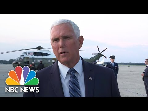 Pence Reacts To Odessa Shooting: 'Our Hearts Go Out To All The Victims' | NBC News