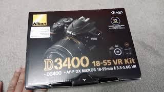 فتح علبة كاميرا نيكون d3400 nikon