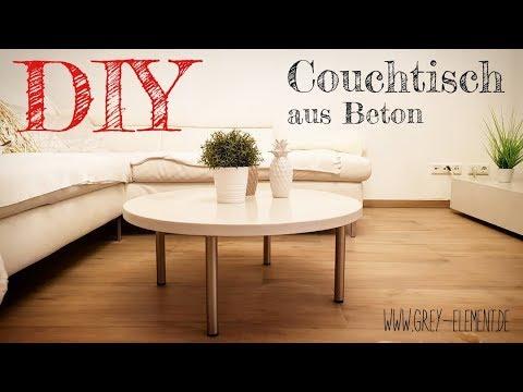 Diy Einen Modernen Couchtisch Aus Beton Selber Machen Youtube