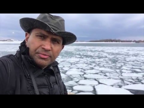 Crossing Frozen Lake Ontario