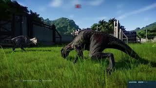 Jurassic World Evolution: 12 Indoraptors brawl with a (Modified) Majungasaurus  (Part 2)