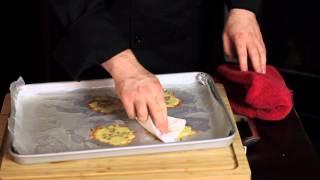 Bite Sized Ceasar Salads On Parmesan Crisps