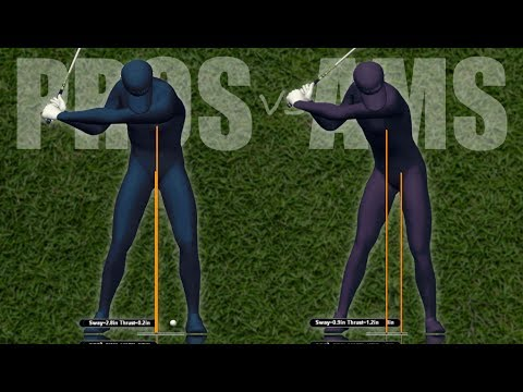 Golf Swing Lateral Motion: Pros vs Ams