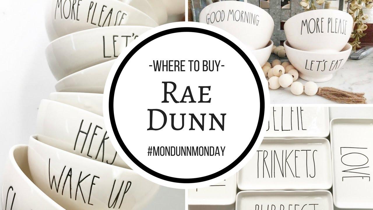 Where To Buy Rae Dunn?!  #mondunnmonday  Youtube