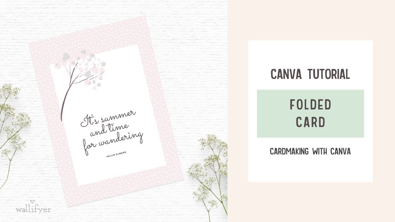 How to create greeting cards in Canva  Canva tutorial for card making