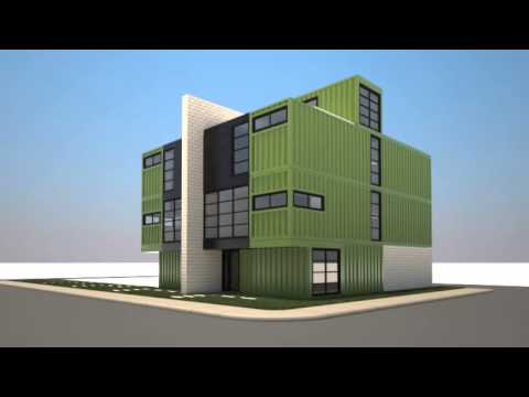 Multifamily Shipping Container Architecture Concept Youtube