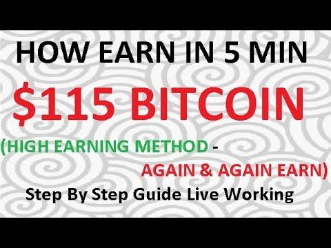 bitcoin maišytuvas 5 min