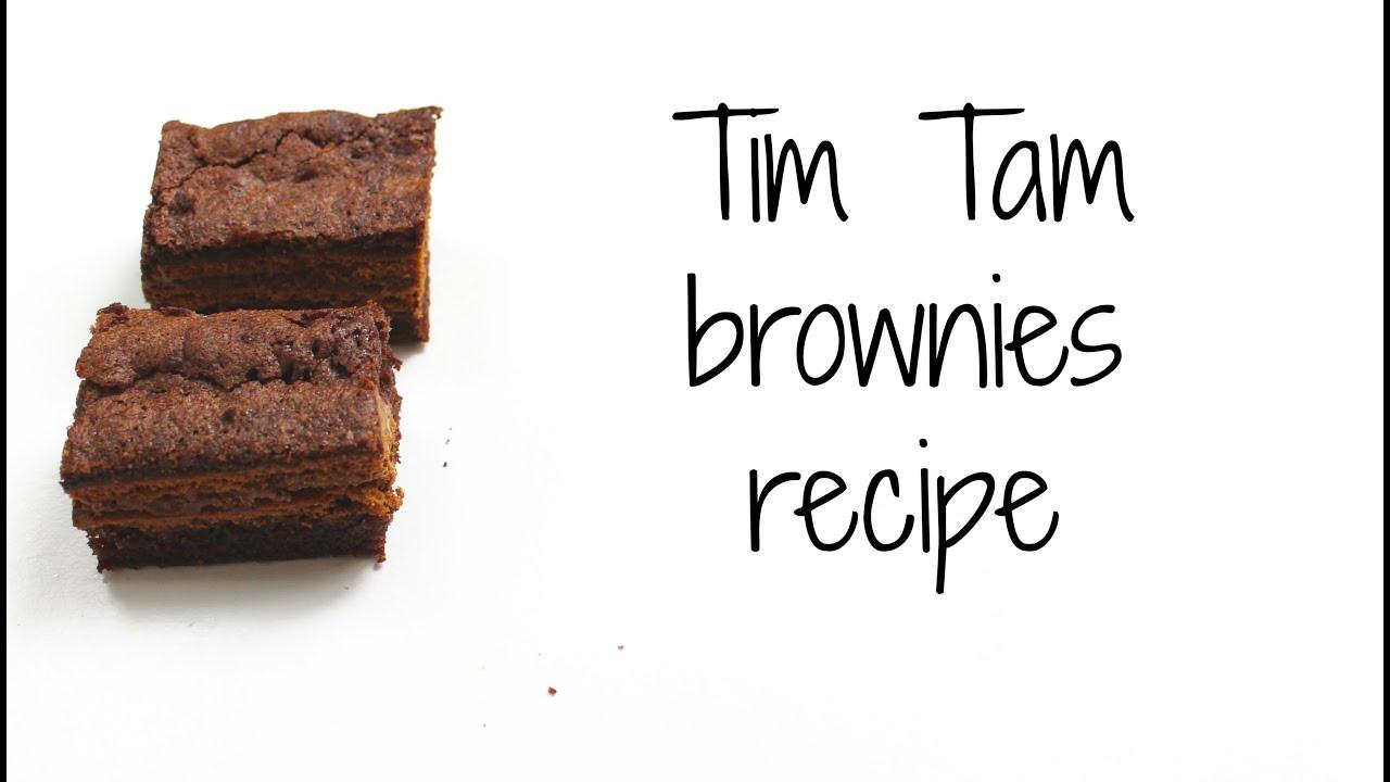 How to make Tim Tam brownies recipe - YouTube