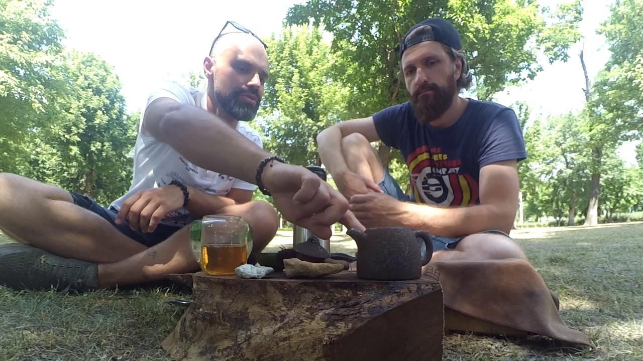 Улун в парке - завариваем Улун с морозного пика