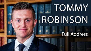 Tommy Robinson | Full Address | Oxford Union