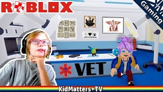Helping Sick Animals! Then being a BAD KITTY | ROBLOX VET SIMULATOR [KM+Gaming S03E007]