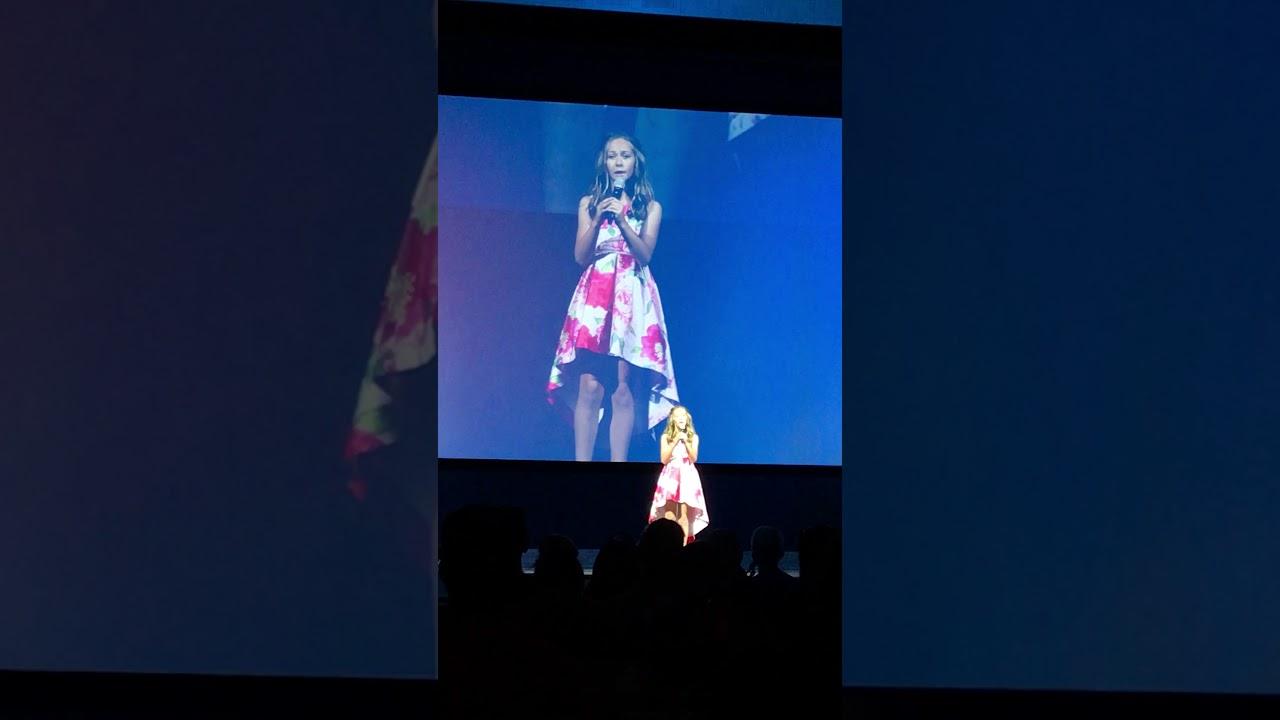 Alex Bryant Singing on Stage (Child Singer Star)
