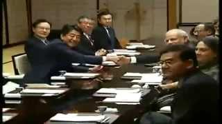 PM Modi with Japan PM Abe at a private dinner at State Guest House, in Kyoto, Japan