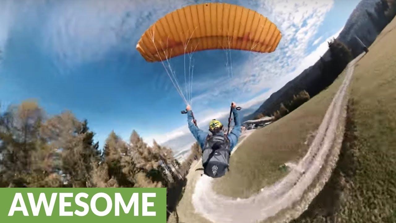 Insane proximity speedflying is an adrenaline packed sport