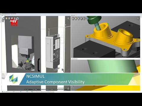 Manage NCSIMUL display with the adaptive component visibility