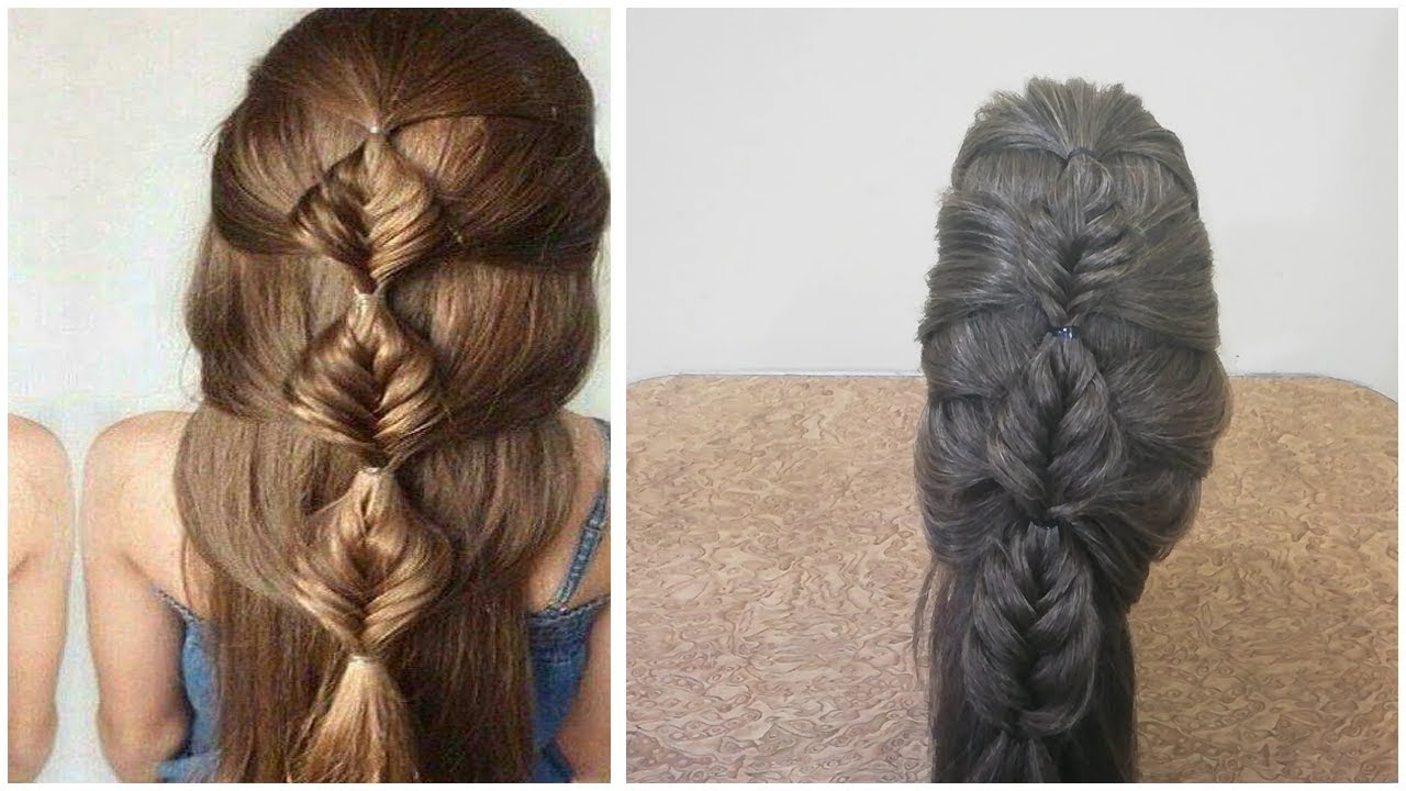 Easy Braided Hairstyle for Wedding/Function | Hair Style Girl 2018 / Indian Traditional ...