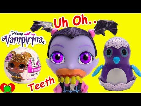 Vampirina Brush Teeth LOL Glitter Surprise Dolls and Hatchimal Surprises