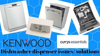 Kenwood/ Currys essentials Dishwasher Tablet Dispenser problems/ solutions (How To Fix Episode 1)