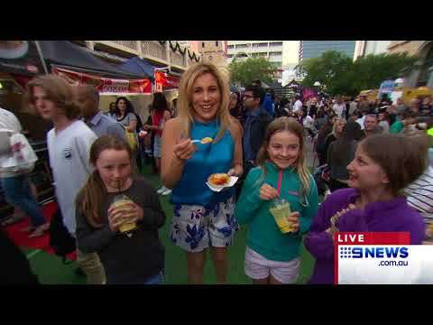 6pm Weather - Twilight Hawkers Market | 9 News Perth