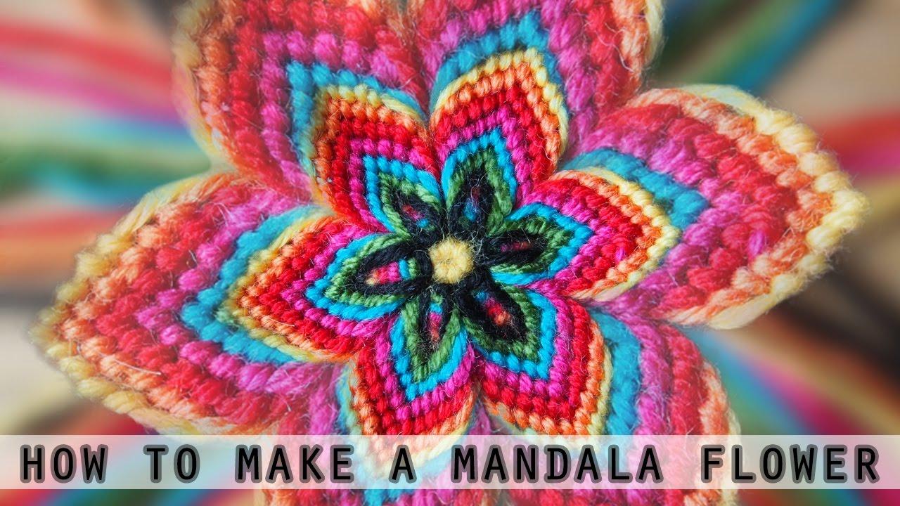 Knüpfblume Diy Mandala Flower Youtube