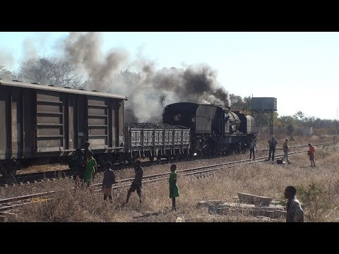 Zimbabwe - 15A Garratt on heavy freight charter (Pt.2), July 201