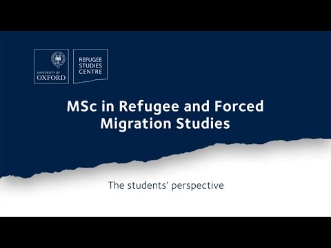 MSc in Refugee and Forced Migration Studies: The students' perspective