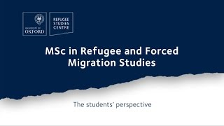 Alumni talk about their experiences on the MSc in Refugee and Force...