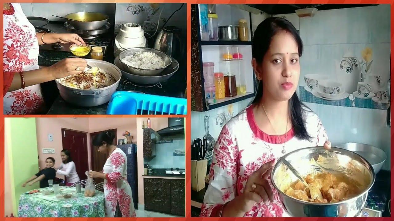একদম ঘরোয়া ও সহজ পদ্ধতিতে বানালাম Chicken Biriyani # Bangla Vlog